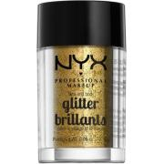 NYX PROFESSIONAL MAKEUP Face & Body Glitter - Gold