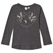 GAP Sequin Sweater Heather Grey XS (4-5 år)