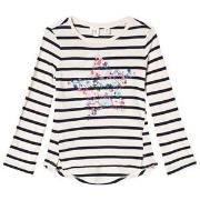 GAP Navy Stripe Long Sleeve T-Shirt XS (4-5 år)