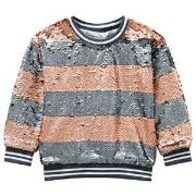 Molo Mabel Sweatshirt Silver/Blush Stripe 104 cm (3-4 år)