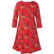 Frugi Red Forest Jersey Smock Dress S