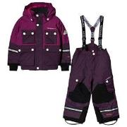 Tenson Breezy Skiing Snow Pants and Winter Jacket Set Purple 86/92 cm