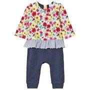GAP Little Artist Triple-Layer One-Piece Multi Floral 0-3 mnd