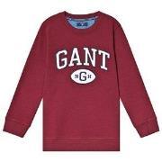 GANT Burgundy Collegiate Logo Sweatshirt 122-128cm (7-8 years)