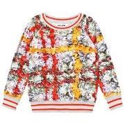 Molo Raewyn T-Shirt Checked Flowers 122 cm (6-7 år)