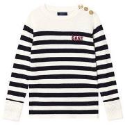GANT Stripe Sweater Navy and Cream 122-128cm (7-8 years)