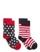 Th Kids Sock 2p Stars And Stripes Socks & Tights Socks Rød Tommy Hilfi...